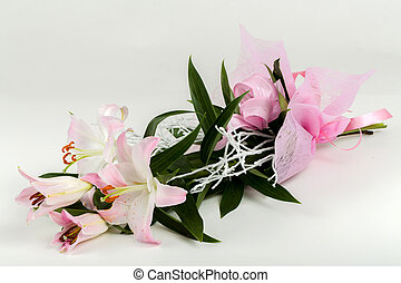 bouquet of pink lily flower