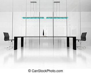 room for meetings - Modern room for meetings 3d render