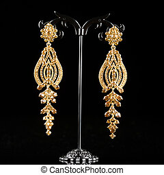 Jewelry earrings with gems - Jewelry filigree earrings with...