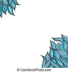 Frame blue waves