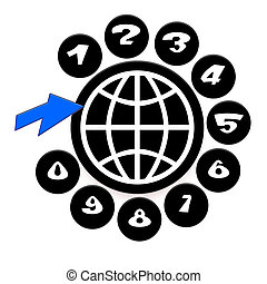 Global Communications - Global Communication Icon with...