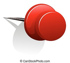 Sharp pin in red color