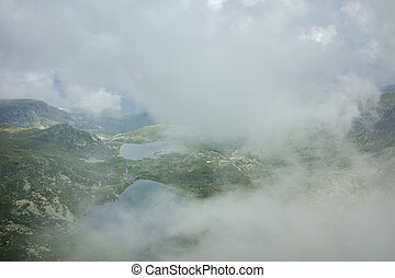 The Seven Rila Lakes, Bulgaria - Clouds over The Twin, The...