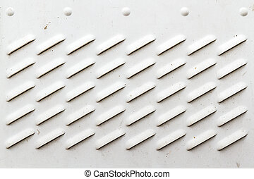 Detail of Dirty White Panel with Ventilation Grilles -...
