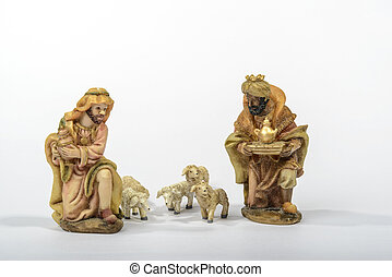 Elements Nativity - Elements of the Catholic Christian crib...