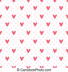 wrapping paper - Pattern with red hearts for wrapping paper