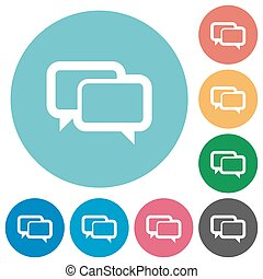 Flat chat bubbles icons - Flat chat bubbles icon set on...