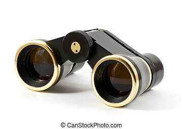 Theater black binoculars front