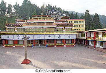 Rumtek Monastery, Sikkim, India. Rumtek Monastery is a gompa...