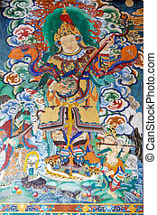 Rumtek Monastery, Sikkim, India - Painting at the Rumtek...