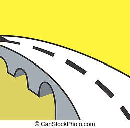 Road - Illustration of symbol of a road with line marking