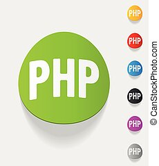 realistic design element. PHP