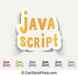realistic design element. java script