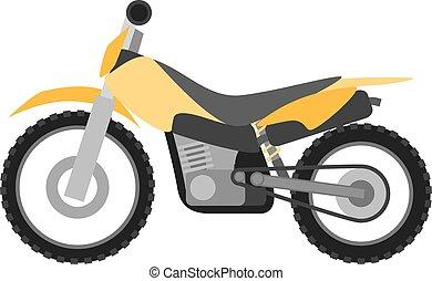 Flat style enduro motorcycle