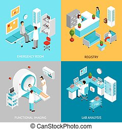 Hospital departmens set - Hospital departments design...