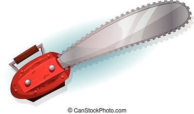 Lumber Chainsaw - Illustration of a cartoon funny chainsaw...