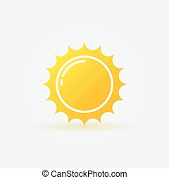 Yellow sun logo - vector isolated icon or sign