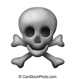 Skull and Crossbones - An Isolated Skull and Crossbones