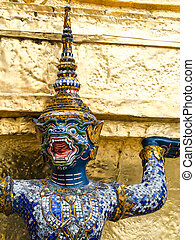 Ramayana demons supported Goden Pagoda
