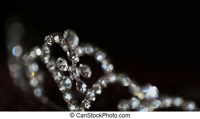 Jewlery, Diadem Close up - Diadem with diamonds Close up