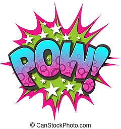 Comic Book Illustration - A Pow Comic Book Illustration...