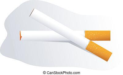 Cigarette - Illustration of two cigarettes