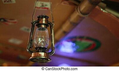 Old Lantern Swinging