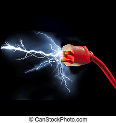 Electric plug - Electrical plug with sparks flying out