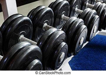Heavy sports dumbbells