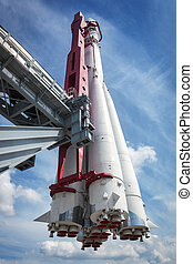 space rocket on the launch pad