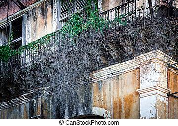 old beautiful balconies