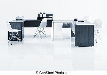 tables and armchairs with reflection