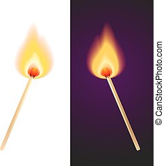matches in fire
