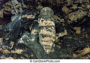 Rock formation  in cave Magura