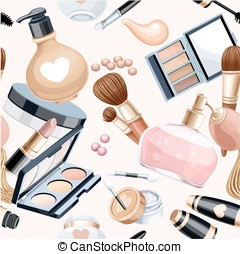 Seamless pattern from cosmetic objects