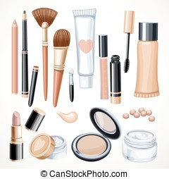 Set of cosmetics objects