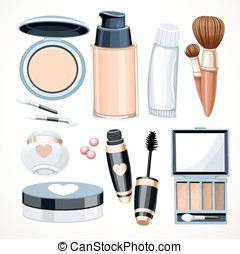 Set of objects cosmetics