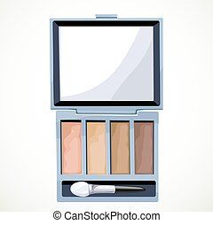 Eye shadow isolated on a white background