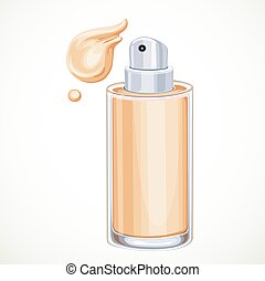 Foundation cream isolated on a white background