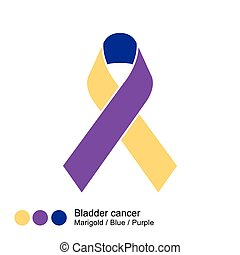 bladder cancer ribbon vector - image of Awareness Ribbons...