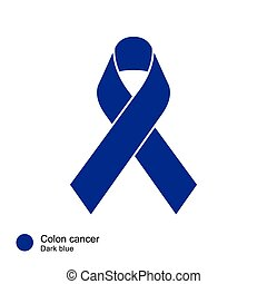 colon cancer ribbon vector