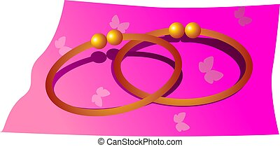 Bangle	 - Illustration of beautiful golden bangle.
