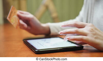 Online banking with tablet computer - Online banking with...