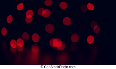 Christmas colorful bokeh lights moving. - Christmas colorful...