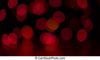 Christmas colorful bokeh lights moving - Christmas colorful...