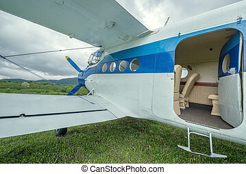 Exterior of the airplane. - Exterior of the small retro...