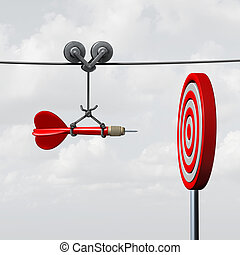 Success Hitting Target - Success hitting target as a...