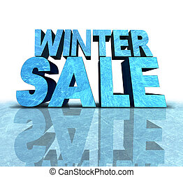 Winter Sale Sign - Winter sale sign made with a chunk of...