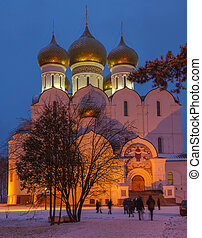 Assumption Cathedral in Yaroslavl in winter night