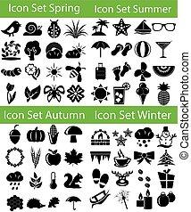Icon Set Four Seasons